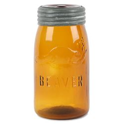 Amber Beaver Quart Fruit Jar