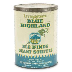 Blue Highland Linseed Oil Tin