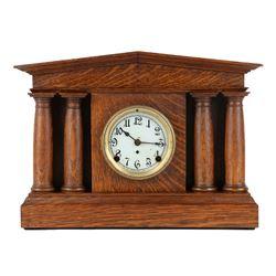 "Pequegnat ""Pantheon"" Mantel Clock"