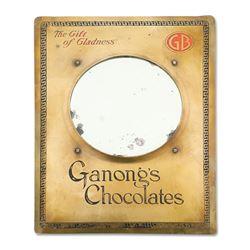 Ganong's Chocolates Brass Mirror