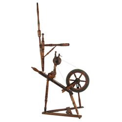 Unusual Decorated Spinning Wheel