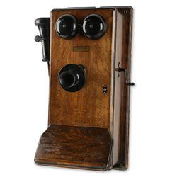 Northern Electric Walnut Wall Telephone