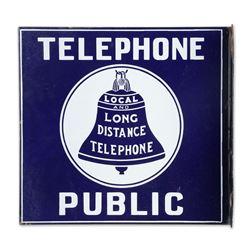Porcelain Bell Telephone Flange Sign