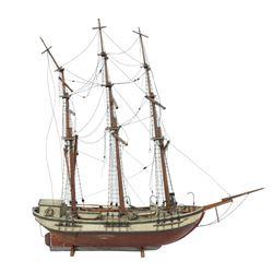 Imposing 19th C Scale Model Ship