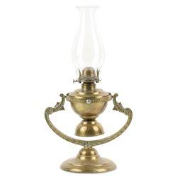 Maritime Brass Gimbal Oil Lamp