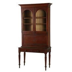 Untouched Walnut Secretary Bookcase