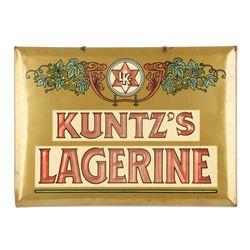 Kuntz Celluloid Over Tin Advertising Sign