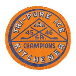 Kitchener Tri-Pure Ice IHL Champions Badge