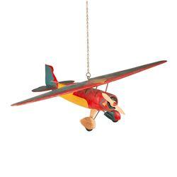 Folk Art Tandem Wing Airplane