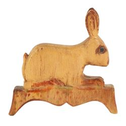 Horst Waterloo County Folk Art Rabbit Carving