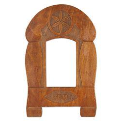 Hex Carved Folk Art Picture Frame