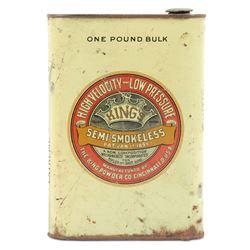 Powder Tin, King's Black Semi-Smokeless