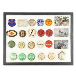 Lot of Fishing & Hunting License Badges
