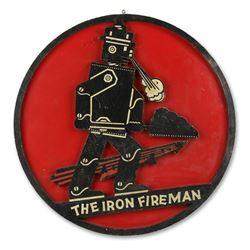 Iron Fireman Coal Furnace Sign