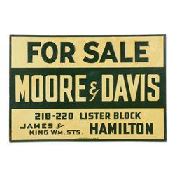 "Moore & Davis Real Estate ""For Sale"" Sign"