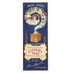 Lipton's Tea Bookmark Premium