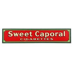 Framed Tin Sweet Caporal Cigarettes Sign