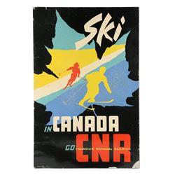 """CNR """"Ski in Canada"""" Cardboard Poster"""