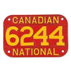 Canadian National Cast Locomotive Number Plate
