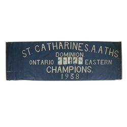 St. Catherines Lacrosse Banner, 1938
