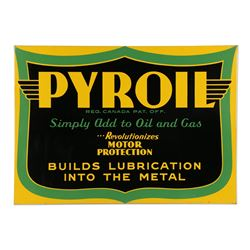 Pyroil Oil Additive Sign