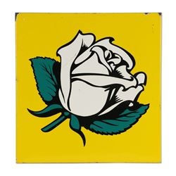 White Rose Gasoline Panel Sign