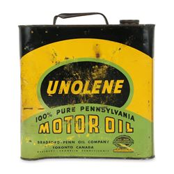 Unolene Motor Oil Can