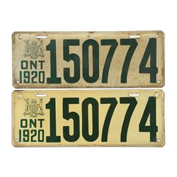 License Plates, Ontario