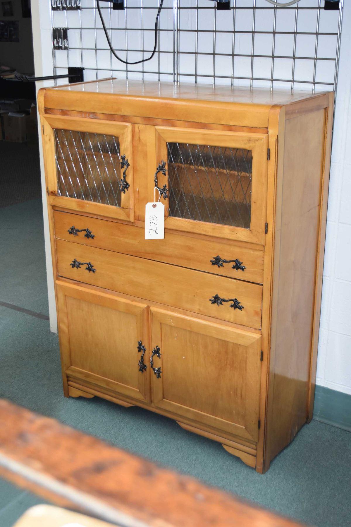 Vintage 50 S Canadiana Kitchen Storage Cabinet