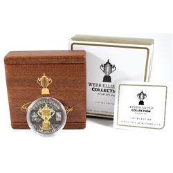 2011 New Zealand Post $1 Rugby World Cup – Webb Ellis Cup Collection Limited Edition 1oz Fine Silver