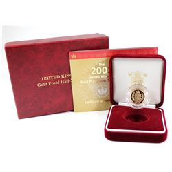 2002 United Kingdom 22K Gold Proof Half-Sovereign.