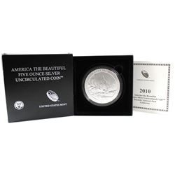 2010 America the Beautiful 5oz Fine Silver - Yosemite National Park, California (Tax Exempt). Please