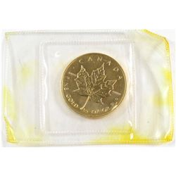 1987 Canada $20 1/2oz .9999 Fine Gold Maple Leaf in Original Plastic Seal (Tax Exempt).