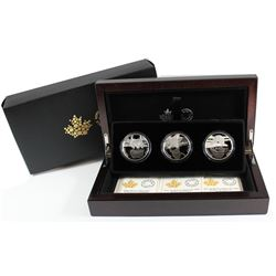 2016 Canada $10 Reflections of Wildlife Fine Silver 3-coin Set in Deluxe Case (Tax Exempt)