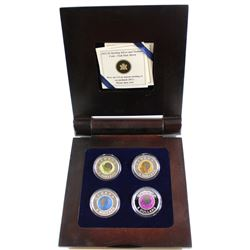 2011-2012 Full Moon Bi-Annual Continuity Series $5 Sterling Silver and Niobium 4-coin Set. Please no