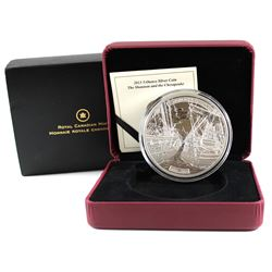 2013 Canada $50 HMS Shannon & USS Chesapeake 5oz. Silver (Tax Exempt). Please note the coin has smal