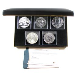 Limited Edition 2013 The Fabulous 5 Select 1oz Fine Silver Coin Set (Tax Exempt). You will receive t