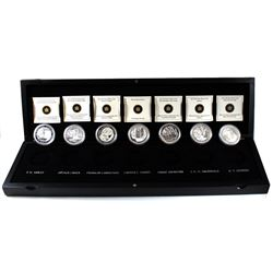 2012-2013 Canada Complete Group Of Seven Fine Silver 7-coin Set in Deluxe Case (some capsules may be
