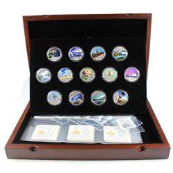 2017 Canada $10 Celebrating Canada's 150th Anniversary Complete Fine Silver Coloured 13-coin Set in