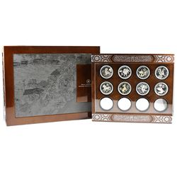 2010 to 2021 Canada RCM Issued $15 Fine Silver Lunar ZODIAC 12-Year Deluxe Subscription Display Case