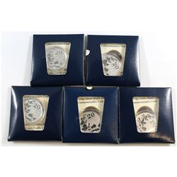 """5x 2011 Canada $20 Fine Silver """"Five Maples"""" (#1 in the $20 for $20 series) Tax Exempt. 5pcs."""