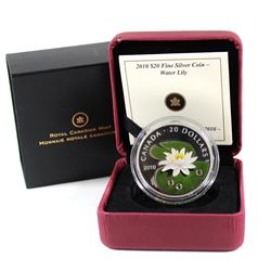 2010 Canada $20 Swarovski Crystal - Crystal Water Lily Fine Silver Coin (TAX Exempt)