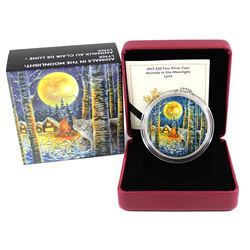 2017 Canada $30 Animals in the Moonlight - Lynx Fine Silver Coin (TAX Exempt)