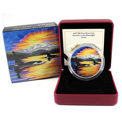 2017 Canada $30 Animals in the Moonlight - Orca Fine Silver Coin (TAX Exempt)