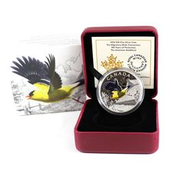2016 Canada $20 Migratory Birds Convention - The American Goldfinch Fine Silver Coin (TAX Exempt)