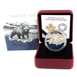 2017 $20 Iconic Canada - The Grizzly Bear Fine Silver Coin (TAX Exempt)