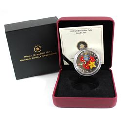 2013 Canada $20 Venetian Glass Candy Cane Fine Silver Coin (TAX Exempt)