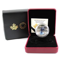 2017 Canada $20 3-Dimensional Breaching Whale Fine Silver Coin (outer cardboard sleeve is bent multi