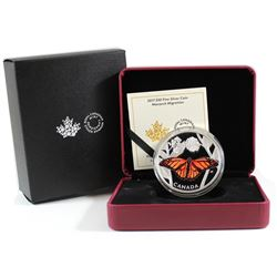 2017 Canada $50 Monarch Migration Fine Silver Coin (outer cardboard sleeve has light bend on corner)