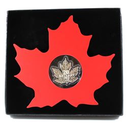 2015 $20 The Canadian Maple Leaf - Maple Leaf Shaped Fine Silver Coin in Original White Outer Cardbo